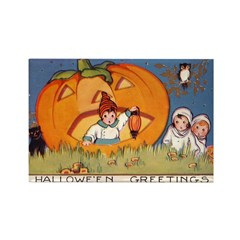 Childrens Halloween Rectangle Magnet