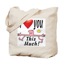 I heart you muchly! Tote Bag