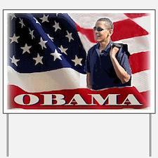 Flag Casual Obama Yard Sign