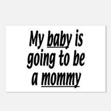 My baby is going to be a mommy Postcards (Package
