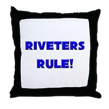 Riveters Rule! Throw Pillow