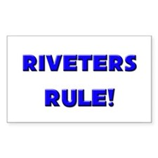 Riveters Rule! Rectangle Decal