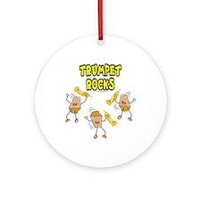 Trumpet Rocks Ornament (Round)