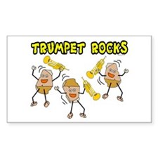 Trumpet Rocks Rectangle Stickers