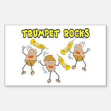 Trumpet Rocks Rectangle Stickers