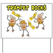 Trumpet Rocks Yard Sign