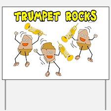 Trumpet Rocks Yard Sign