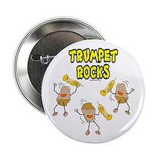 """Trumpet Rocks 2.25"""" Button"""