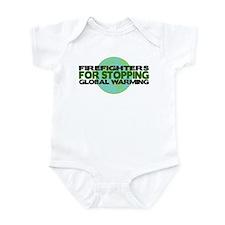 Firefighters Stop Global Warming Infant Bodysuit