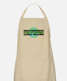 Human Resources Stop Global Warming BBQ Apron