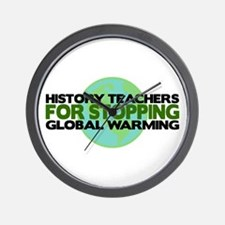 History Teachers Stop Global Warming Wall Clock