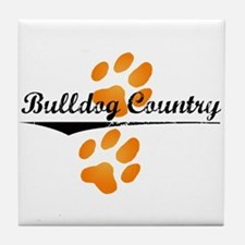 Bulldog Country Tile Coaster
