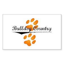 Bulldog Country Rectangle Sticker 50 pk)