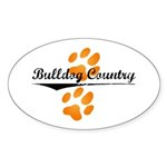 Bulldog Country Oval Sticker (50 pk)