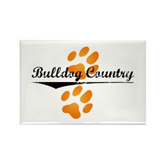 Bulldog Country Rectangle Magnet (10 pack)
