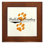 Bulldog Country Framed Tile