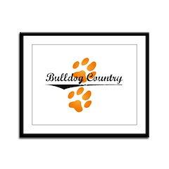 Bulldog Country Framed Panel Print
