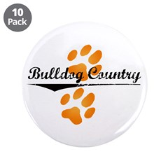 "Bulldog Country 3.5"" Button (10 pack)"