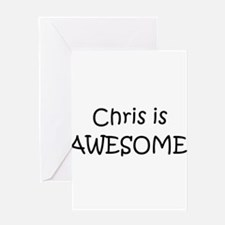 Cute Chris Greeting Card