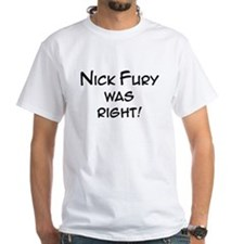 Nick Fury Right T-Shirt (white)