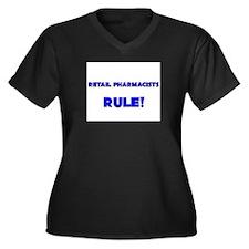 Retail Pharmacists Rule! Women's Plus Size V-Neck
