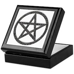 Polka Dot Pentagram Keepsake Box