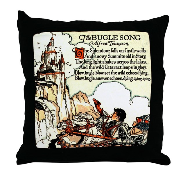 Bugle Song Throw Pillow by whimzical
