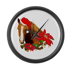 Christmas Horse Large Wall Clock
