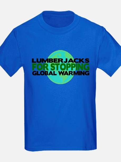 Lumberjacks Stop Global Warming T