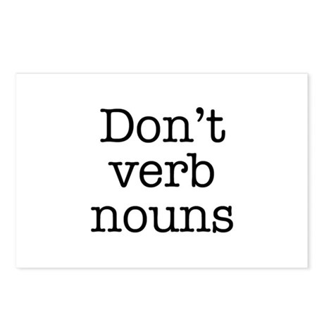 Don't Verb Nouns Postcards (Package of 8)