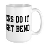 Do it with a slight bend Large Mug