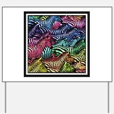 Zebra Artwork Yard Sign