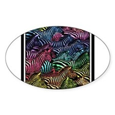 Zebra Artwork Oval Decal