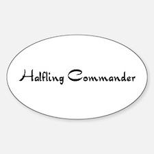 Halfling Commander Oval Decal