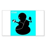 ichill Sticker (Rectangle 50 pk)