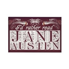 Read Jane Austen Rectangle Magnet