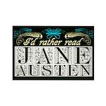 Read Jane Austen Rectangle Magnet