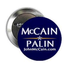 """McCain / Palin Official Logo 2.25"""" Button"""