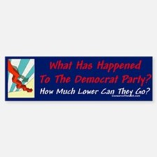 """Dems Unfavorable"" Bumper Bumper Bumper Sticker"