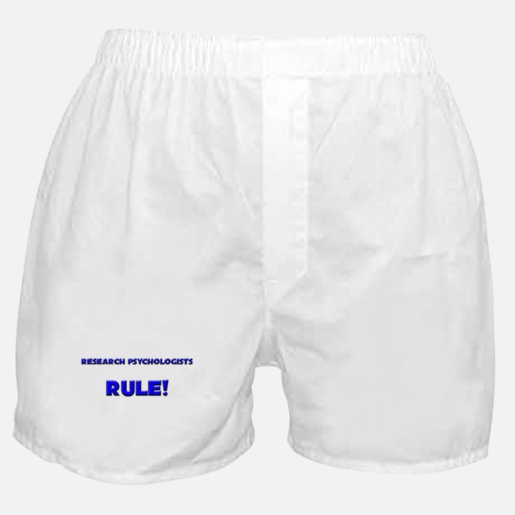 Research Psychologists Rule! Boxer Shorts