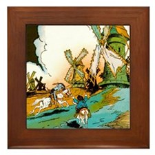Don Quixote Framed Tile