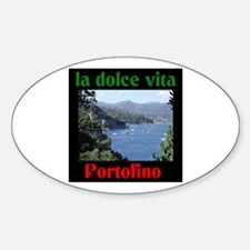 la dolce vita Portofino Italy Oval Decal