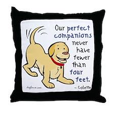 Four Feet (Dog) Throw Pillow