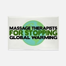 Massage Therapists Stop Global Warming Rectangle M