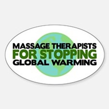 Massage Therapists Stop Global Warming Decal