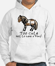 Too Cute Pony Jumper Hoody