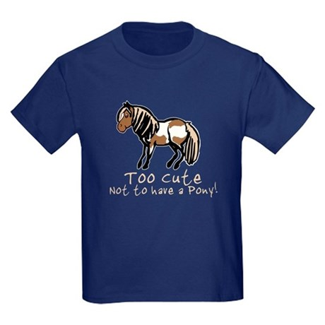 Too Cute Pony Kids Dark T-Shirt
