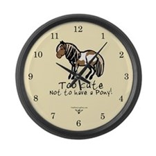 Too Cute Pony Large Wall Clock