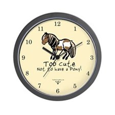 Too Cute Pony Wall Clock