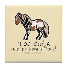 Too Cute Pony Tile Coaster